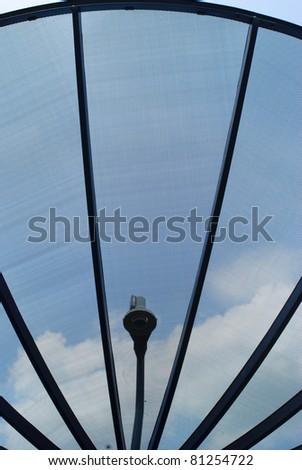 Satellite Dish at blue sky background