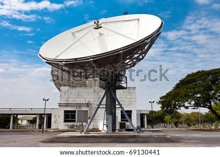 satellite dish earth station