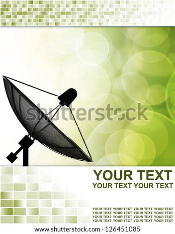 Satellite dish for Communication and technology ,Abstract business background