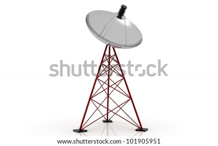 Satellite dish isolated on white background.