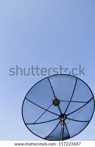 Satellite Dish With Blue Sky