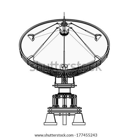 royalty free satellite dishes antenna doppler 177455441 stock Satellite Dish TV Packages satellite dishes antenna doppler radar cartoon illustration outline high resolution 3d 177455243