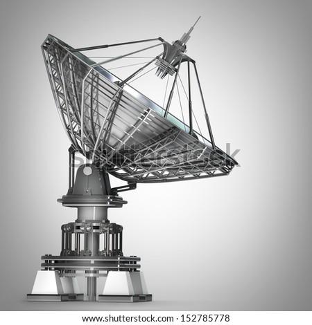 Satellite dishes antenna - Doppler radar High resolution 3D image  #152785778