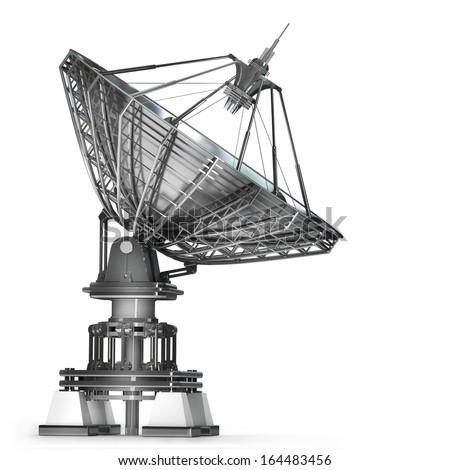 Satellite dishes antenna - Doppler radar  isolated on white background High resolution 3d  #164483456