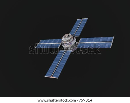 Satellite in a dark sky