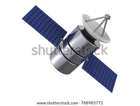 Satellite in the Space - 3D