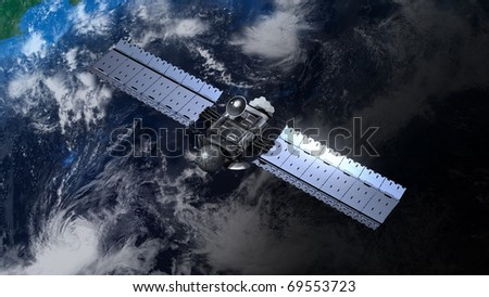 satellite is orbiting the Earth