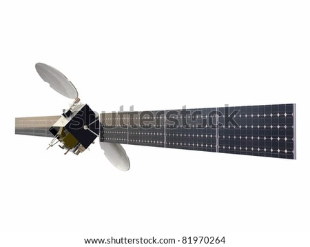 satellite isolated on white background