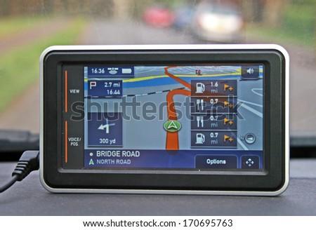 Satellite Navigation Device Imagine de stoc ©