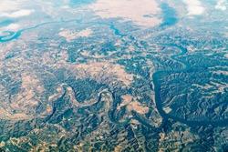 Satellite View Of Planet Earth Horizon
