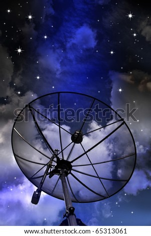 Satellite with the night sky background