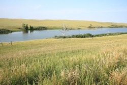 Sather Lake in Little Missouri National Grassland, North Dakota, USA