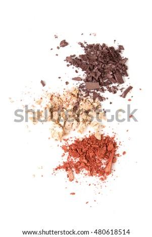 Satin eyeshadows powder, makeaup and cosmetic #480618514