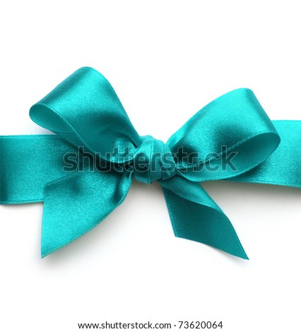 satin gift bow. Ribbon. Isolated on white