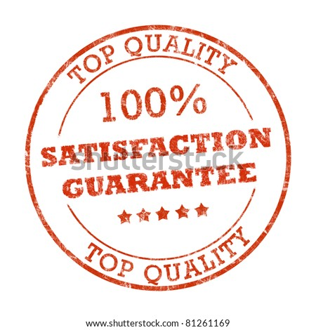 Satisfaction guarantee stamp