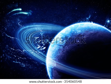 Saturn - Elements of this Image Furnished by NASA