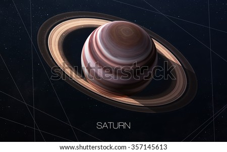 Saturn - High resolution images presents planets of the solar system. This image elements furnished by NASA.