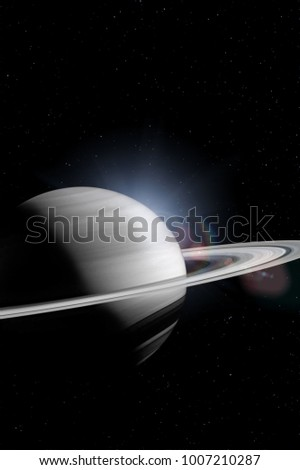 Saturn in the outer space. Elements of this image furnished by NASA.