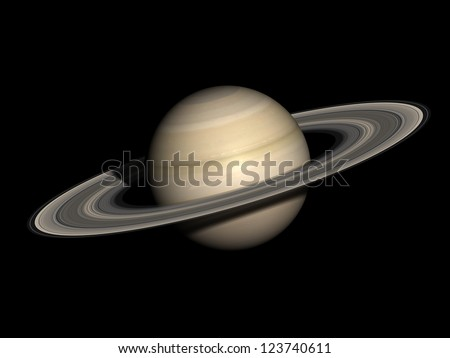 Saturn, isolated on black. Elements of this image furnished by NASA.