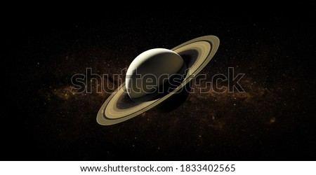 Saturn on space background. Elements of this image furnished by NASA. Foto d'archivio ©