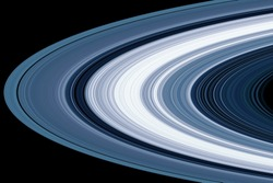 Saturn planet rings, background texture. Elements of this image were furnished by NASA.
