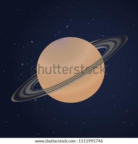 Stock Photo Saturn planet. Solar system. Planet design