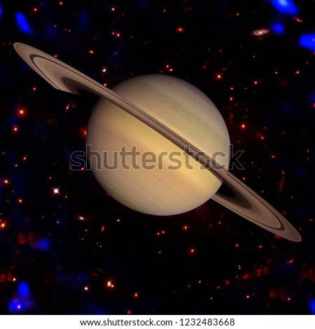 Saturn, solar system. The elements of this image furnished by NASA.