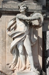 Satyr marble statue in Dresden Zwinger, Germany