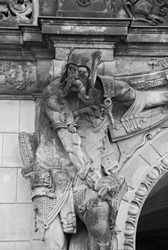 Satyr supporting a column of the Wallpavillion of the Zwinger Palace, Dresden