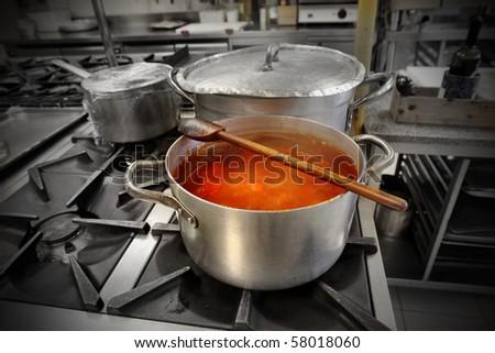 sauce in a pot