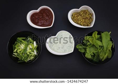 Sauces to barbecue. Garlic sauce, tomato sauce, mustard sauce. #1424674247