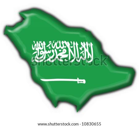 Saudi Arabia Map Flag Saudi Arabia Button Flag Map