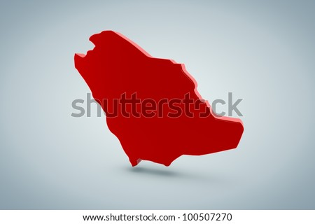 Saudi Arabia Map - stock photo