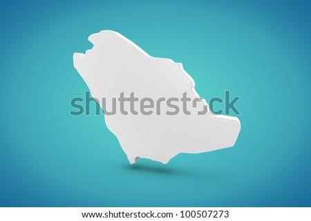 Saudi Arabia Map - stock photo