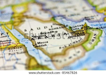 Saudi Arabia on the map.