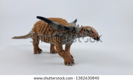 Sauropeltawas a heavily builtquadrupedalherbivorewith a body length of approximately 5.2m. Theskullwas triangular when viewed from above, with the rear end wider than the tapering snout.