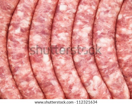 Sausage background. Abstract composition.