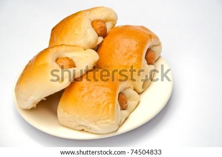 Sausage Bread Thai Bakery Stock Photo 74504833 : Shutterstock