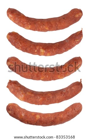 Sausages isolated on a white background. With Clipping Path.