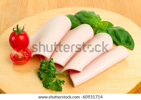 sausages on the kitchen table