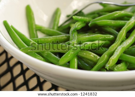 Sauteed Green Beans - stock photo