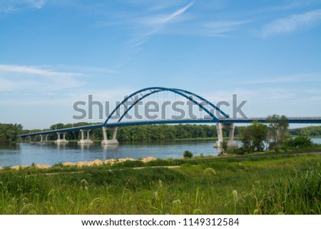 Savanna-Sabula Bridge over the Mississippi River.  Savanna, Illinois, USA