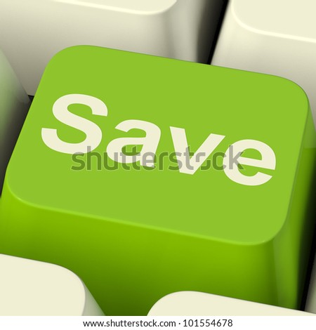 Save Computer Key As Symbol For Discount Or Promotion