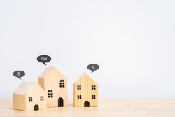 save money for Home or property taxation and Annual tax concept. Tax benefit residential property or estate tax. depicts mandatory financial charge type of levy imposed upon a taxpayer.
