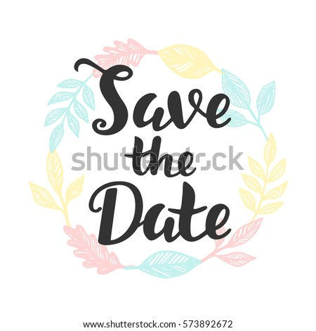 Save the date hand lettering wedding invitation card label sticker save the date hand lettering wedding invitation card label sticker banner template maxwellsz