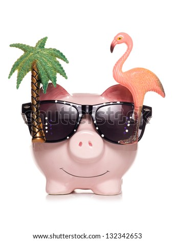saving for retirement piggy bank studio cut out