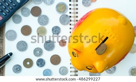 Saving plan, saving for retirement, saving for prosperity, saving for investment, Saving for education, saving for investment #486299227