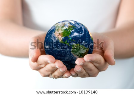 Saving world - stock photo