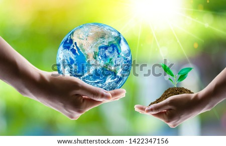 Saving world Ecology concept. Elements of this image furnished by NASA #1422347156