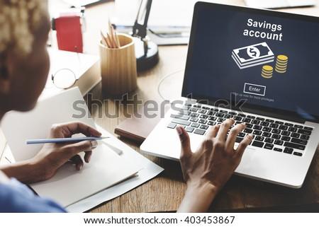 Savings Account Money Global Finance Concept Foto stock ©